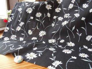 ゆら〜りマーガレットの綿麻ソフトシーチング・ブラック