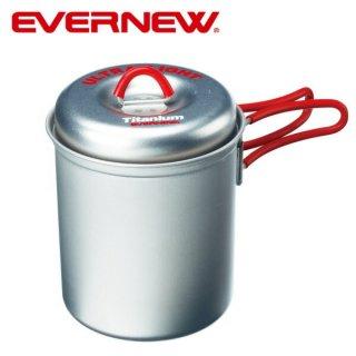 EVERNEW(エバニュー) チタン ウルトラライトクッカー深型S RED コンパクトな手持ち鍋