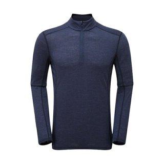 MONTANE モンテイン プリミノ140 ジップネック メンズ ハーフジップ長袖シャツ