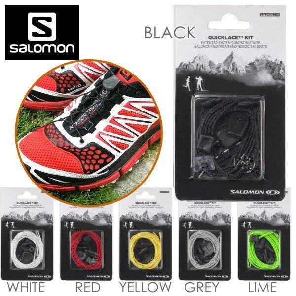 SALOMON Quicklace Kit Black Men One Size 2 pack