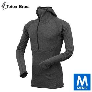 Teton Bros ティートンブロス Power Wool Grid Hoody メンズ ハーフジップ フーディ長袖シャツ