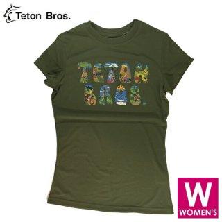 Teton Bros ティートンブロス WS TB Font Tee レディース 半袖Tシャツ