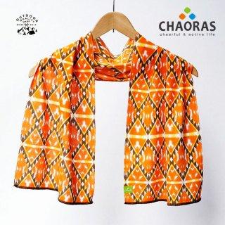 CHAORAS(チャオラス) スポーツ手ぬぐい バティック/オレンジ
