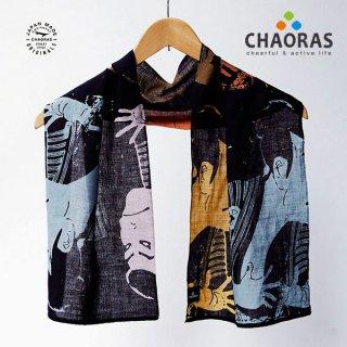 CHAORAS(チャオラス) スポーツ手ぬぐい 麻/写楽