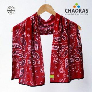 CHAORAS(チャオラス) スポーツ手ぬぐい バンダナ/レッド