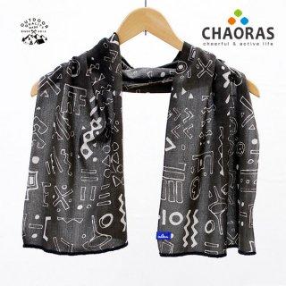 CHAORAS(チャオラス) スポーツ手ぬぐい クバ/ブラック