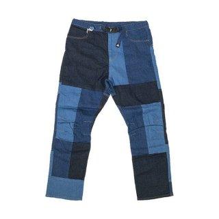 MMA マウンテンマーシャルアーツ 7pkt Pathwork Denim Jeans メンズ ロングパンツ