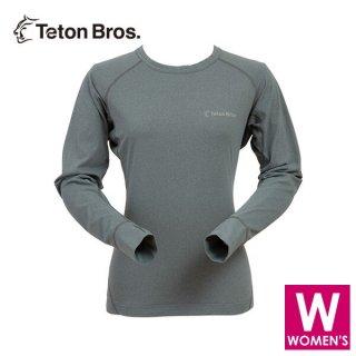 Teton Bros ティートンブロス WS Power Wool MW L/S Tee (Women) レディース 長袖シャツ
