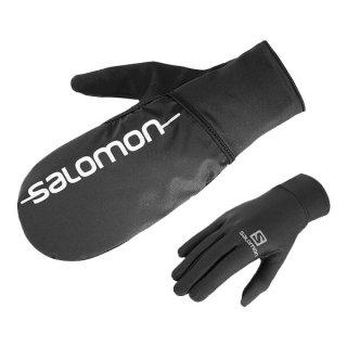 SALOMON サロモン FAST WING WINTER GLOVE U メンズ・レディース 撥水・防風効果のあるミトンカバー付きグローブ