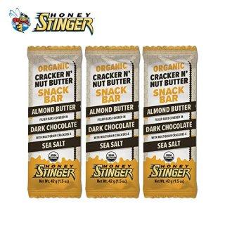 HONEY STINGER ハニースティンガー ORGANIC CRACKER BAR アーモンドバター/ダークチョコレート 3個セット