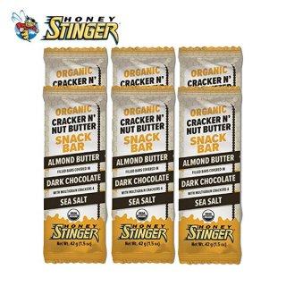 HONEY STINGER ハニースティンガー ORGANIC CRACKER BAR アーモンドバター/ダークチョコレート 6個セット