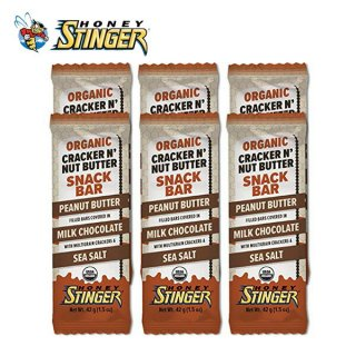 HONEY STINGER ハニースティンガー ORGANIC CRACKER BAR ピーナッツバター/ミルクチョコレート 6個セット