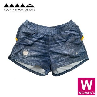 MMA マウンテンマーシャルアーツ W's Denim Run Shorts70 レディース ショートパンツ