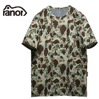 Ranor ラナー ダックカモフラージュプリントTシャツ