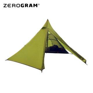 ZEROGRAM ゼログラム  INYO TIPI TENT OLIVE インナーテント付き軽量2名用ワンポール ティピテント
