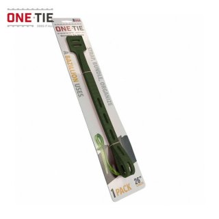 ONE-TIE 26inch (66cm) 1本パック ダークグリーン 何度も使えるギアラッピングツール 結束バンド