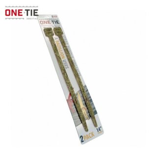 ONE-TIE 14inch (36cm) 2本パック カモ 何度も使えるギアラッピングツール 結束バンド