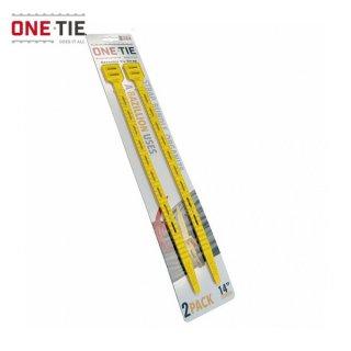 ONE-TIE 14inch (36cm) 2本パック イエロー 何度も使えるギアラッピングツール 結束バンド