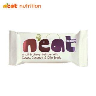 n'eat(ニート) ナチュラルフルーツエナジーバー カカオ ココナッツ&チアシード