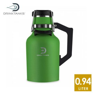 DrinkTanks(ドリンクタンクス) 32oz (0.94L) Growler2.0 グラウラー2.0 Fern ステンレススチールの真空断熱