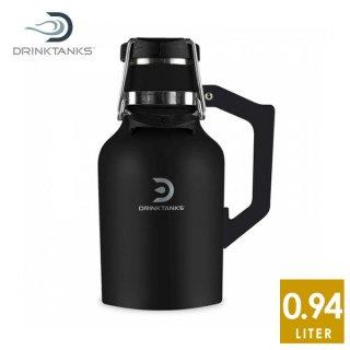 DrinkTanks(ドリンクタンクス) 32oz (0.94L) Growler2.0 グラウラー2.0 Obsidian ステンレススチールの真空