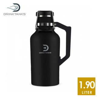 DrinkTanks(ドリンクタンクス) 64oz (1.9L) Growler2.0 グラウラー2.0 Obsidian ステンレススチールの真空