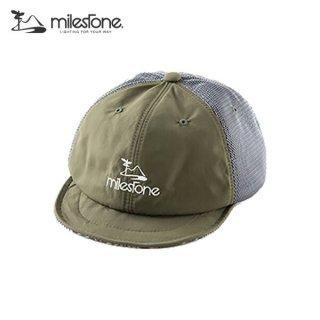 milestone(マイルストーン) original cap MSC-011 Khaki×Gray メンズ・レディース メッシュキャップ
