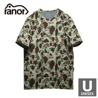 ranor ラナー ダックカモフラージュ メンズ・レディース 半袖Tシャツ