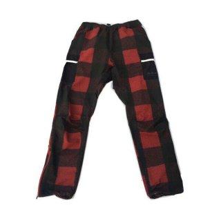 MMA マウンテンマーシャルアーツ 7pkt Running Long Pants (Red Check) メンズ ロングパンツ