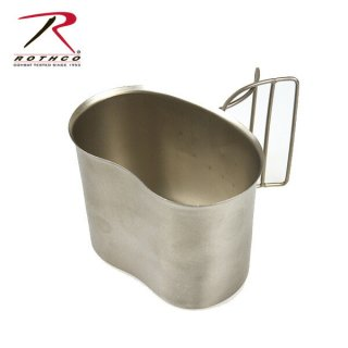 ROTHCO GIスタイル ステンレスキャンティーンカップ ミリタリー(G.I.)系の形状をした水筒にフィットするカ