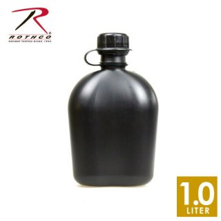 ROTHCO GIスタイル 1QT キャンティーンボトル ブラック(1L) GIタイプのボトルを模した容器