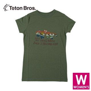 Teton Bros ティートンブロス WS Loving Nature Tee レディース 半袖Tシャツ