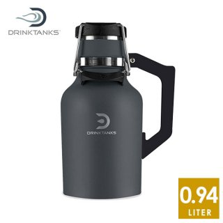 DrinkTanks 32oz (0.94L) Growler2.0 Slate ステンレススチールの真空断熱ダブルウォール構造ボトル