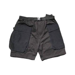 gron(グローン) ヘリンボーン×キャンバス モンキーイージーショーツ メンズ ハーフ・ショートパンツ