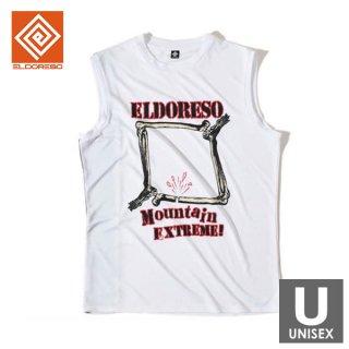 ELDORESO(エルドレッソ) Bone Frame Sleeveless(White) メンズ・レディース ドライ ノースリーブシャツ