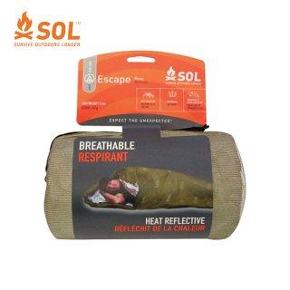 SOL(エスオーエル) エスケープヴィヴィ O.Dグリーン オールシーズン使える透湿性素材のマミータイプ寝袋