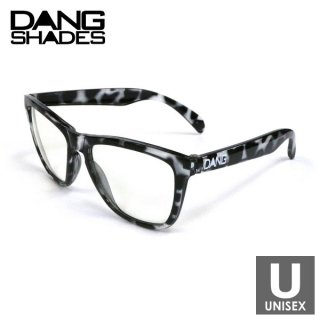 DANG SHADES(ダン・シェイディーズ) ORIGINAL Black Clear Tortoise × Clear スポーツサングラス