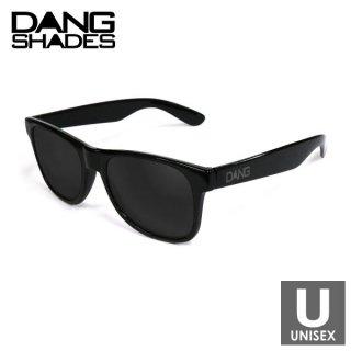 DANG SHADES(ダン・シェイディーズ) LOCO Black Gloss x Black w/ Gray logo スポーツサングラス