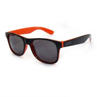 DANG SHADES(ダン・シェイディーズ) LOCO Black Gloss Orange Two-Tone x Black Smoke スポーツサングラス