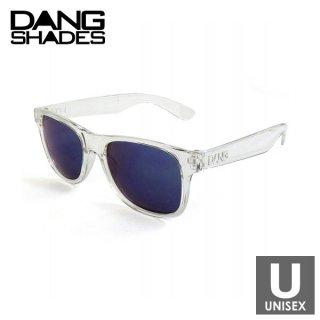 DANG SHADES(ダン・シェイディーズ) LOCO RAISED Crystal Clear × Blue Mirror スポーツサングラス