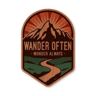 TRYL WOOD STICKER(ウッドステッカー) Wander Often 木材を使用した自然素材のステッカー