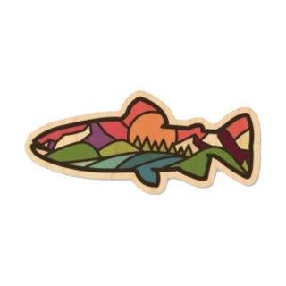 TRYL WOOD STICKER(ウッドステッカー) Rainbow Trout 木材を使用した自然素材のステッカー