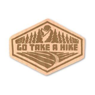 TRYL WOOD STICKER(ウッドステッカー) Take a Hike 木材を使用した自然素材のステッカー