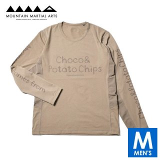 MMA マウンテンマーシャルアーツ Choco&Potatochips Long Sleeve Tee(Coyote) メンズ ドライ長袖シャツ