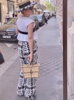 ツイードカンカン帽【the straw×tweed ザ・ストロー×ツィード 】
