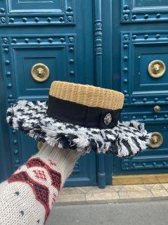ツイードカンカン帽【the straw ザ・ストロー 】