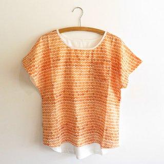 布帛コンビTシャツ