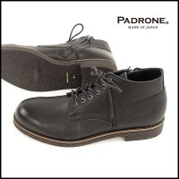 PADRONE(パドローネ)<br>CHUKKA BOOTS with SIDE ZIP WATER PROOF LEATHER / BAGGIO�(チャッカーブーツwithサイドジップ 防水レザー)