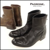 PADRONE(パドローネ)<br>BACK ZIP BOOTS / EDWARD(バックジップブーツ)