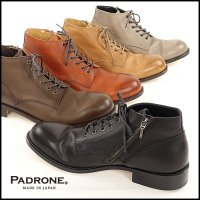 PADRONE(パドローネ)<br>CHUKKA BOOTS with SIDE ZIP / BAGGIO(チャッカブーツwithサイドジップ)